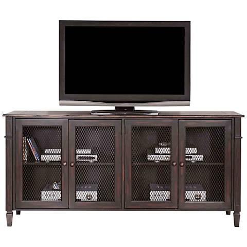 Navarro Two-Toned Aged Clove 4-Door Wood TV Stand
