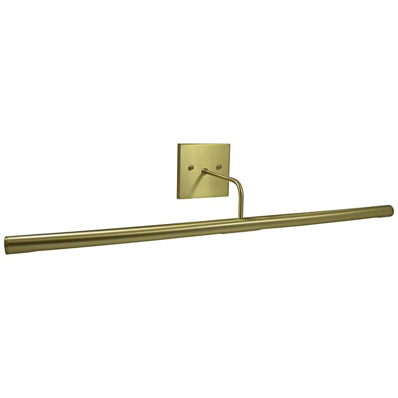 """Slim-Line 28"""" Wide Satin Brass Direct Wire LED Picture Light"""