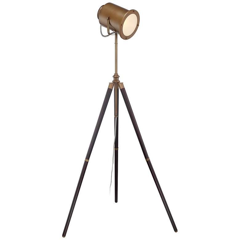 Lite Source Saga Brass Old Hollywood Adjustable Floor Lamp