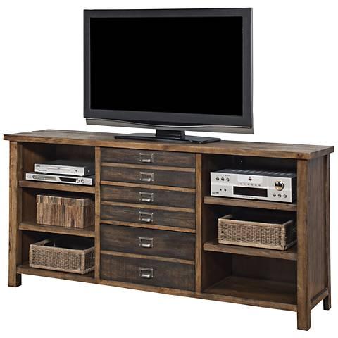 Heritage Hickory 3-Drawer Wood Credenza