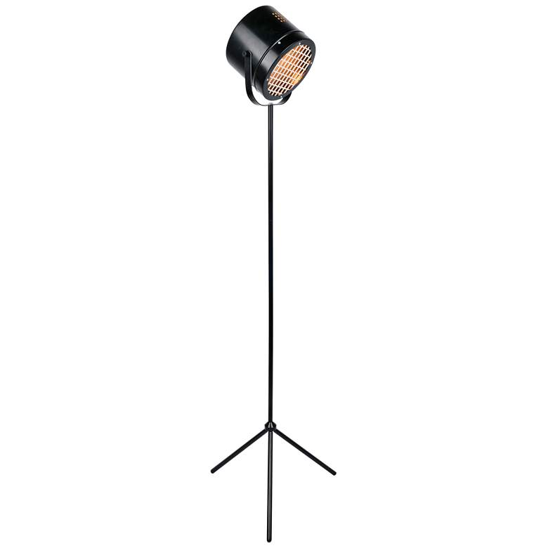 Lite Source Lucine Black Metal Studio Tripod Floor Lamp
