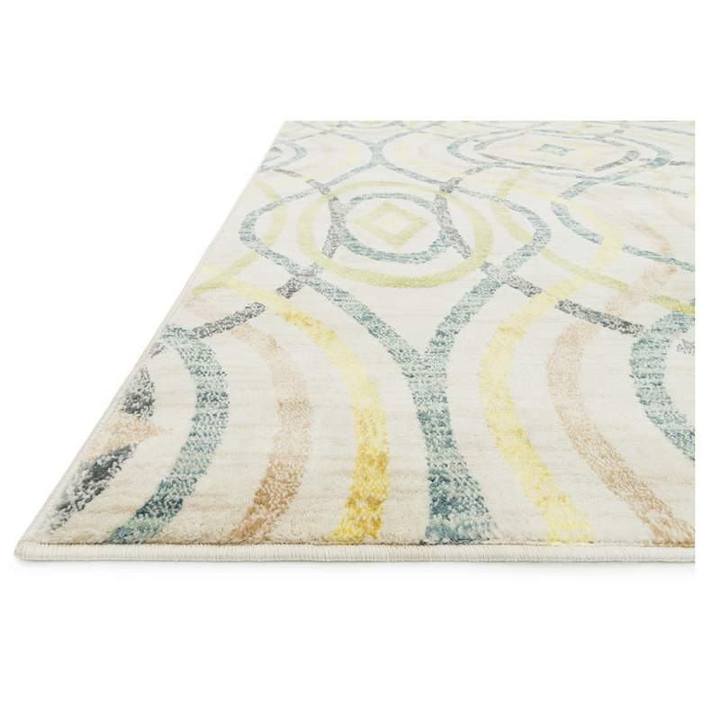 """Madeline MZ-15 5'2""""x7'7"""" Multi-Color and Ivory Area Rug"""