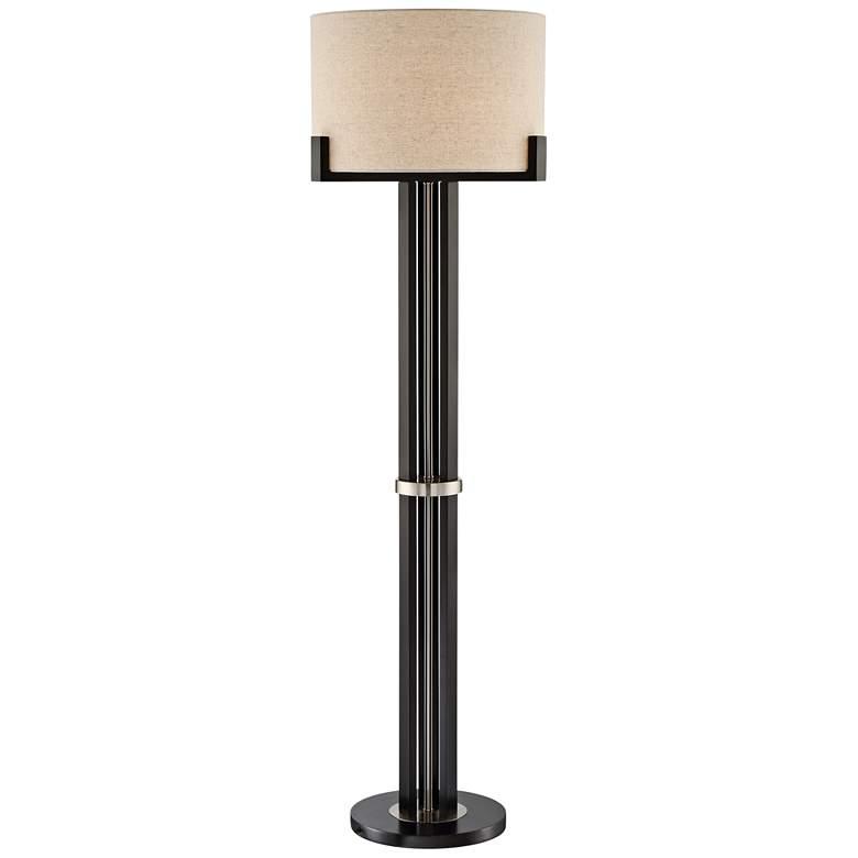 Lite Source Barend Dark Walnut Metal Floor Lamp