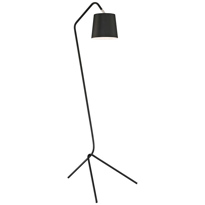 Lite Source Quana Black Metal Linear Tripod Floor Lamp