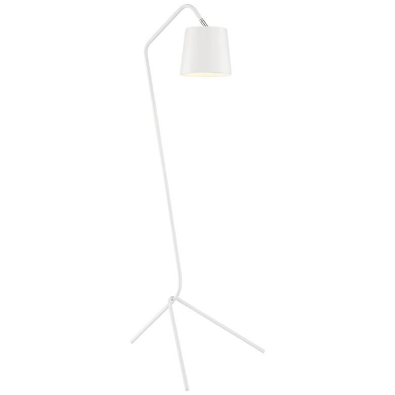 Lite Source Quana White Metal Linear Tripod Floor Lamp