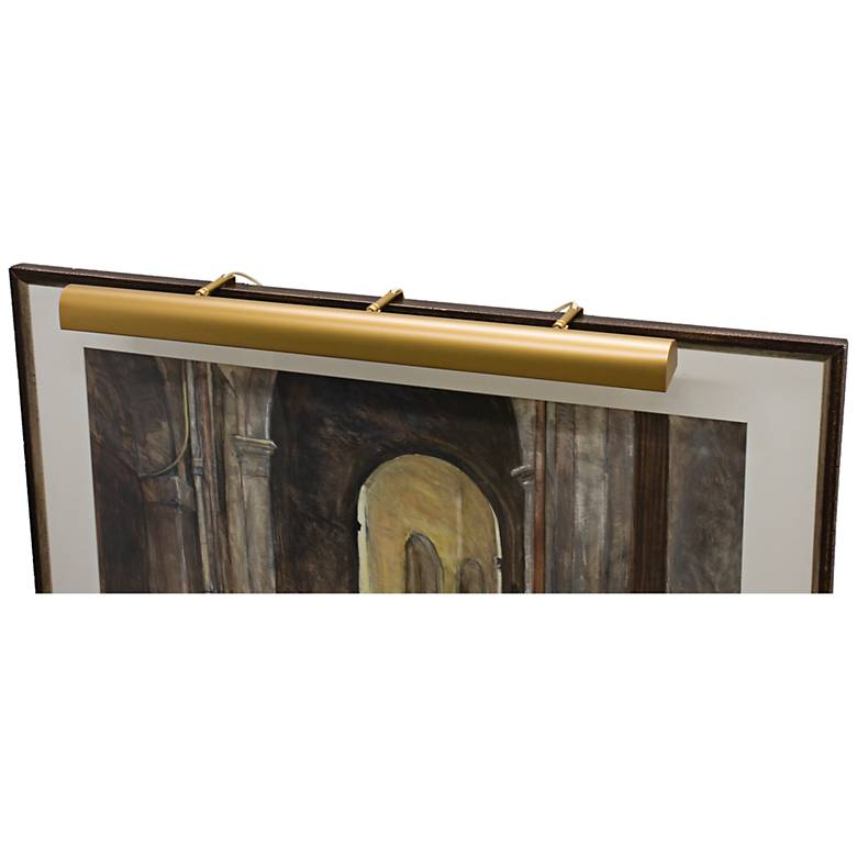 """House of Troy Traditional 36"""" Wide Gold Picture Light"""