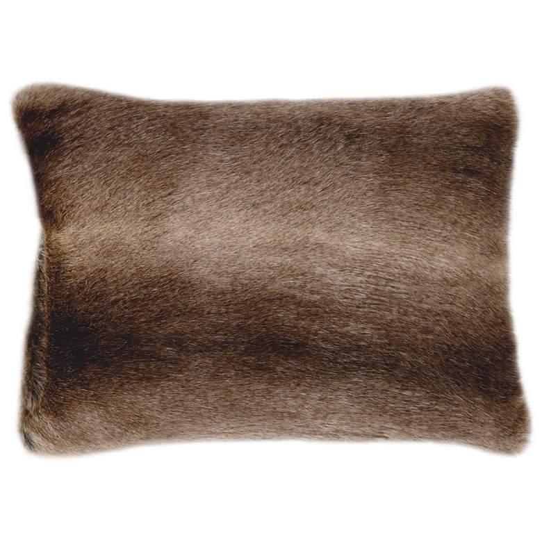 "Chinny Chin 20"" x 14"" Faux Fur Lumbar Pillow"