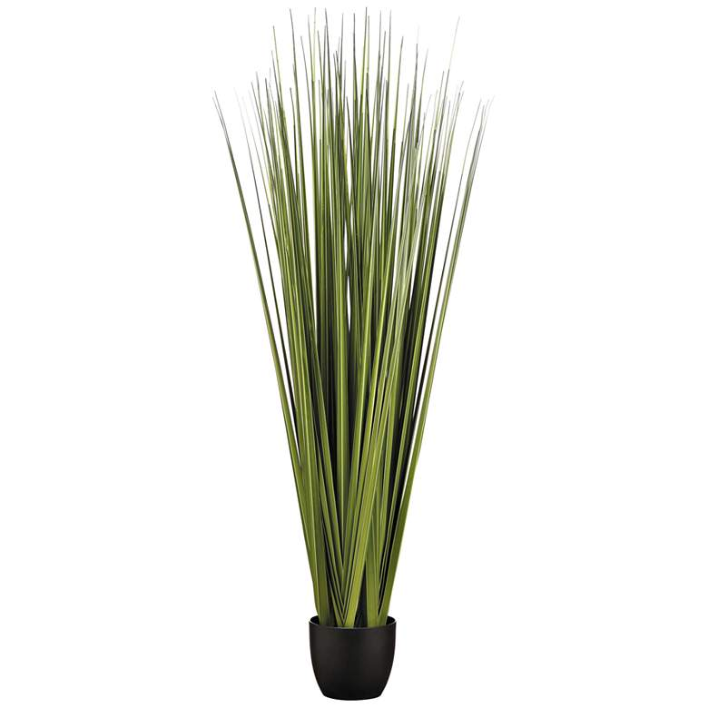 "Reed Grass 66"" High Faux Plants in Pot"