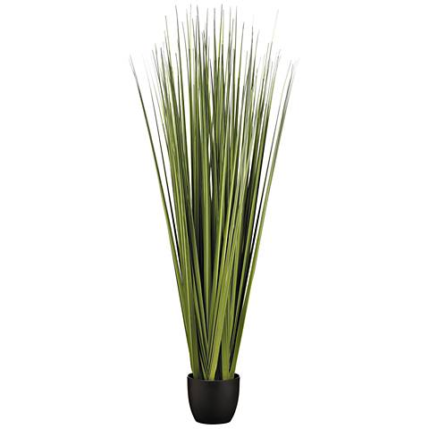 "Six Green Reed Grass Bundles 66""H Faux Plant in Pot"