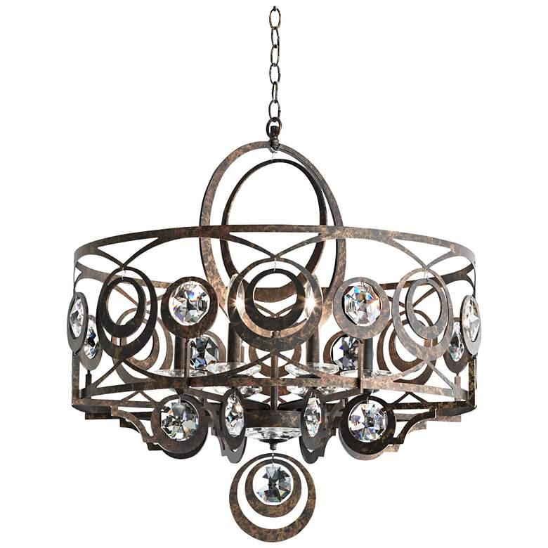 "Schonbek Gwynn 28""W Bronze and Crystal 8-Light Chandelier"