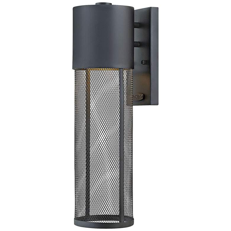 "Aria 18 1/2""H Black and Steel Mesh LED"