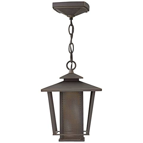 "Theo 11 1/4""H Oil Rubbed Bronze LED Outdoor Hanging Light"