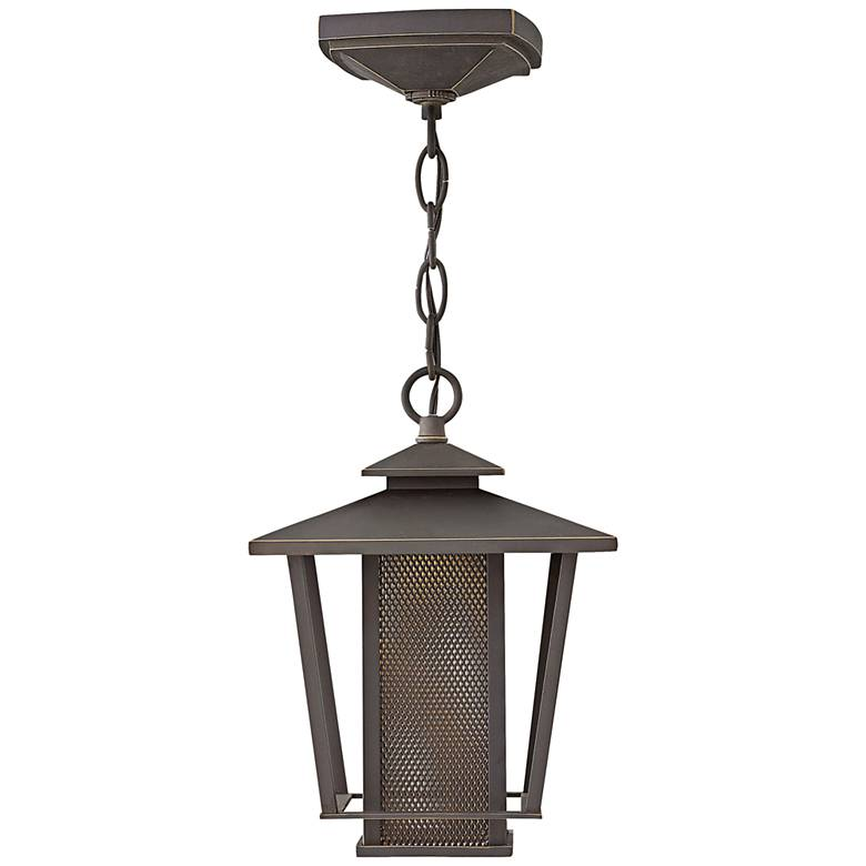 """Theo 11 1/4""""H Oil Rubbed Bronze LED Outdoor Hanging Light"""