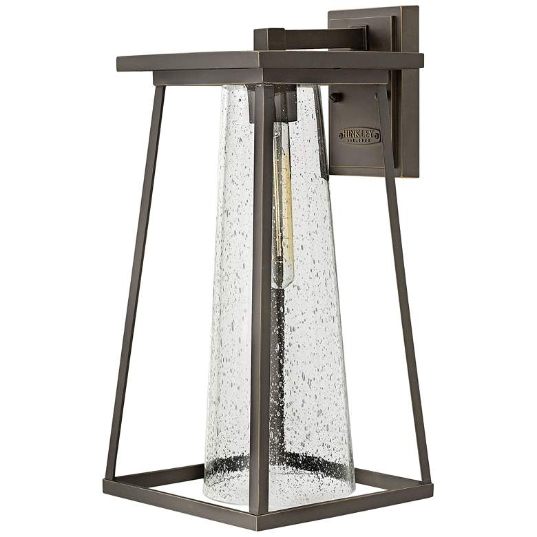 """Burke 16 3/4"""" High Bronze and Clear Glass"""