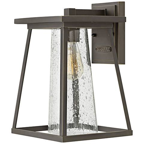 """Burke 14"""" High Bronze and Clear Glass Outdoor Wall Light"""
