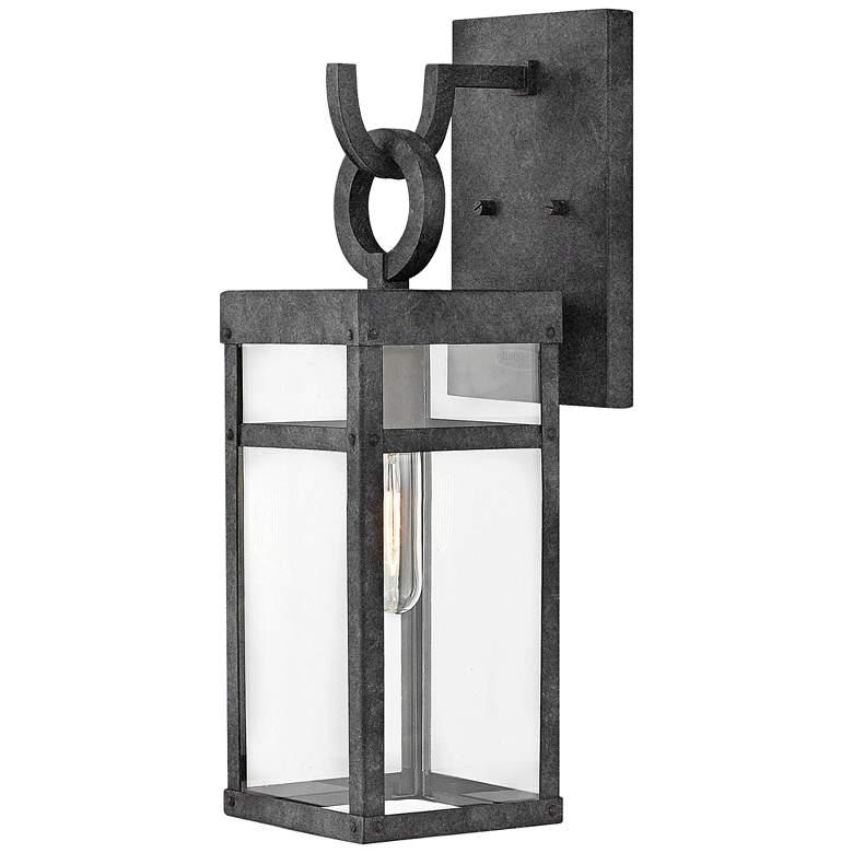 "Hinkley Porter 18 1/2"" High Aged Zinc Outdoor Wall Light"
