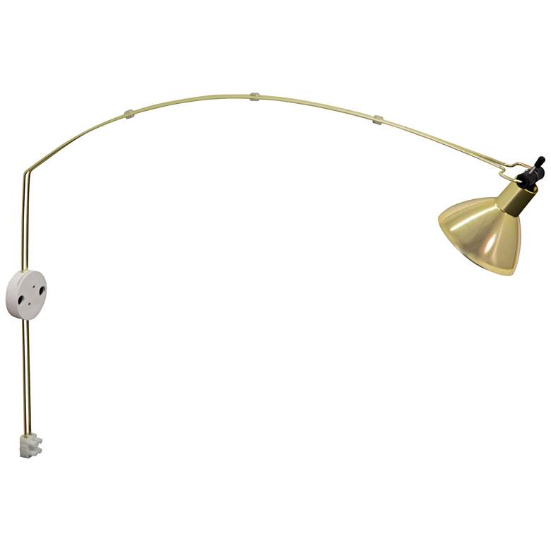 "Advent Gemini 3"" Wide Satin Brass LED Picture Light"