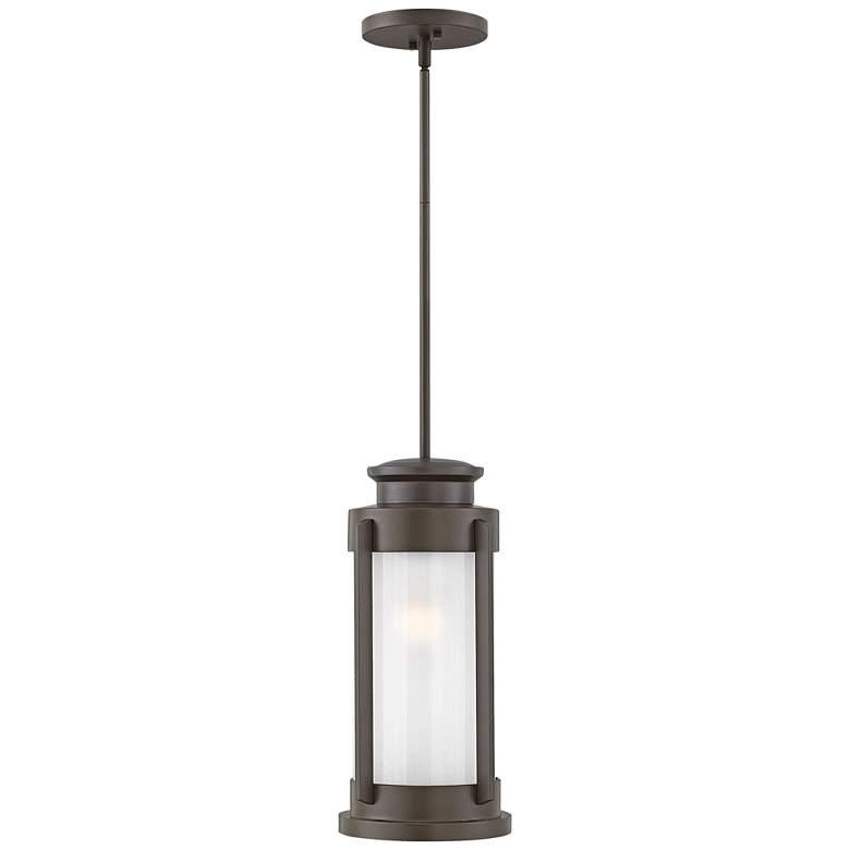 """Hinkley Briggs 17 3/4""""H Buckeye Bronze Outdoor Hanging Light"""