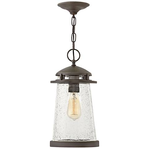 "Hinkley Tatum 16""H Oil Rubbed Bronze Outdoor Hanging Light"
