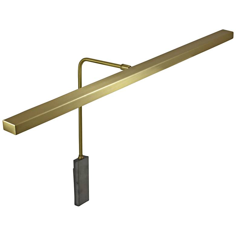 """House of Troy Horizon 26"""" Wide Satin Brass LED Picture Light"""