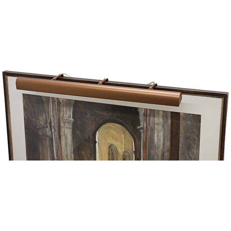 """House of Troy Traditional 42"""" Wide Bronze Picture Light"""
