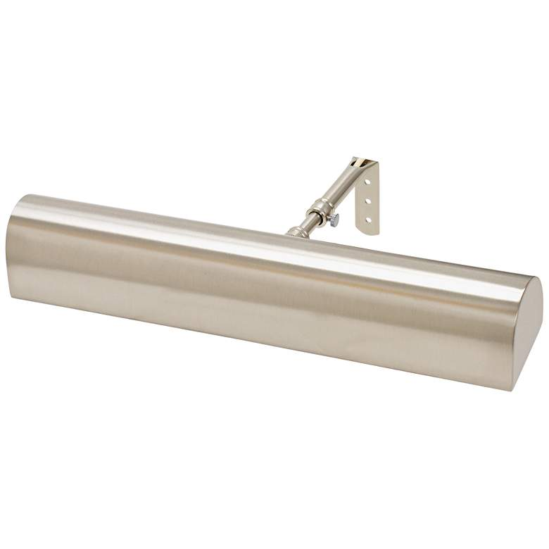 """Traditional 14"""" Wide Satin Nickel LED Picture Light"""