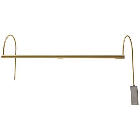 "Ultra Slim-Line 28"" Wide Satin Brass LED Picture Light"