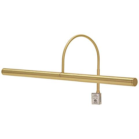 """House of Troy Slim-Line XL 24""""W Satin Brass Picture Light"""