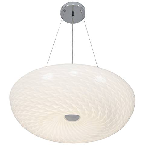 "Varaluz Swirled 18"" Wide Chrome LED Pendant Light"