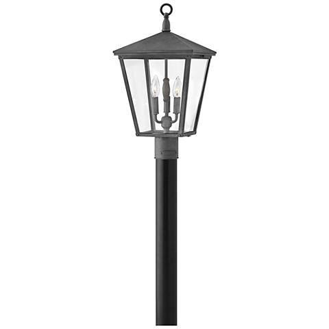 "Hinkley Trellis 21""H Aged Zinc 3-Light Outdoor Post Light"