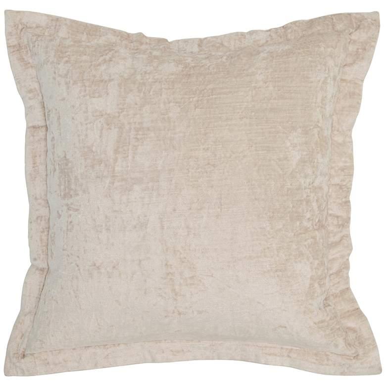 "Lapis Bone Velvet 22"" Square Decorative Pillow"