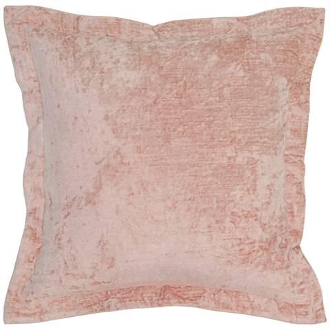 "Lapis Bliss Velvet 22"" Square Decorative Pillow"