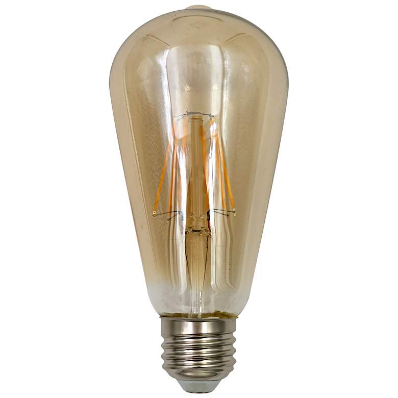 60W Equivalent Amber 7W LED Dimmable Standard ST64 Bulb