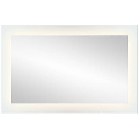 "Elan Edge-Lit Etched Glass 27"" x 42"" LED Wall Mirror"