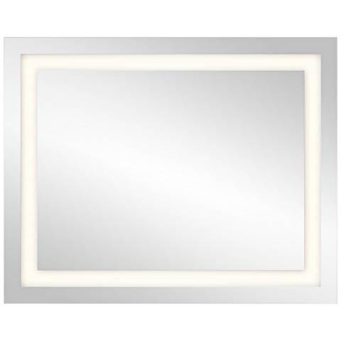 "Elan Edge-Lit Etched Window 24"" x 30"" LED Wall Mirror"