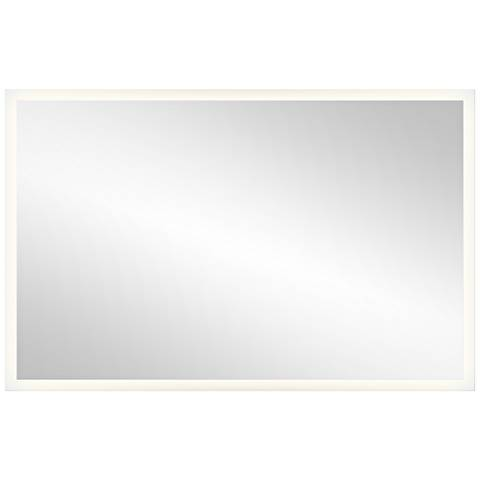 "Elan Edge-Lit Border 39"" x 25"" LED Wall Mirror"
