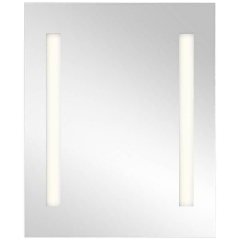 "Elan Edge-Lit Soundbar 26"" x 32"" Small LED Wall Mirror"