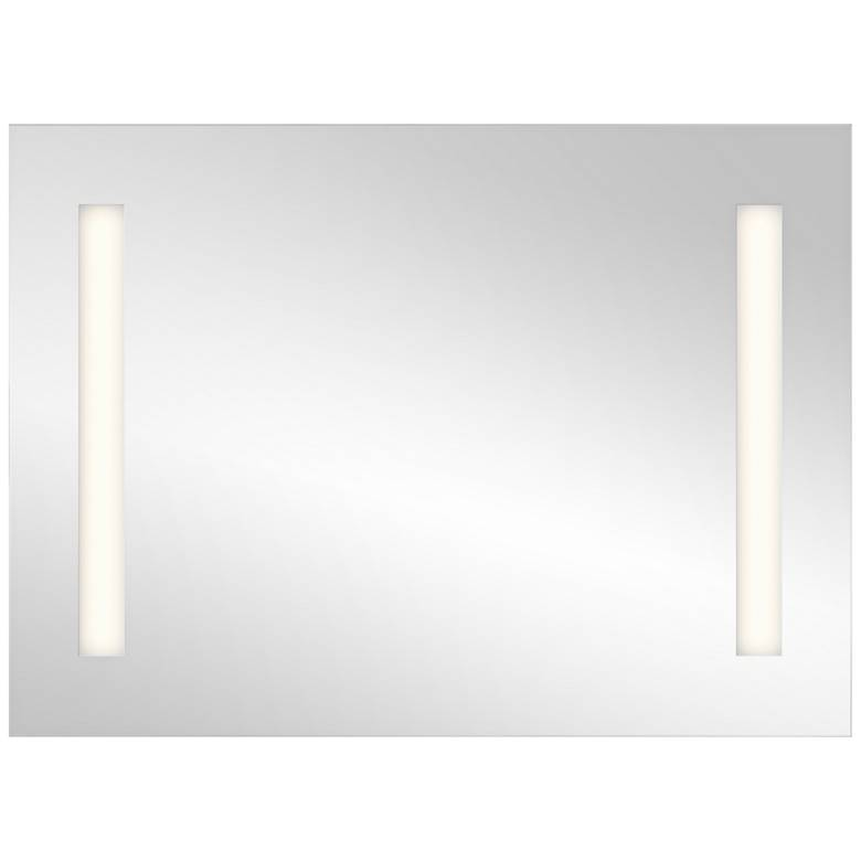 "Elan Edge-Lit Soundbar 36"" x 26"" Large LED Wall Mirror"