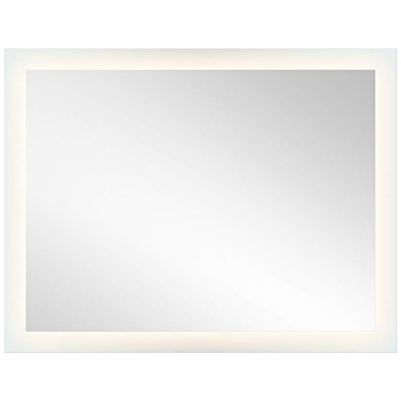 "Elan Edge-Lit Etched Glass 54"" x 42"" LED Wall Mirror"
