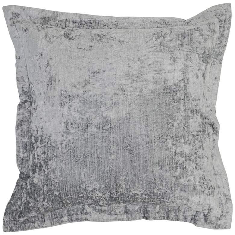 "Lapis Storm Velvet 22"" Square Decorative Pillow"