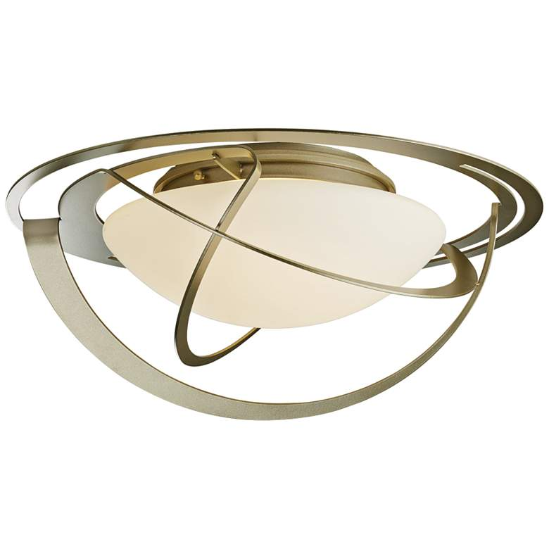 """Hubbardton Forge Equinox 21"""" Wide Soft Gold Ceiling Light"""