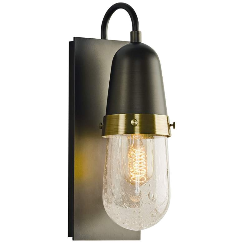 "Hubbardton Forge Fizz 13"" High Dark Smoke Wall Sconce"