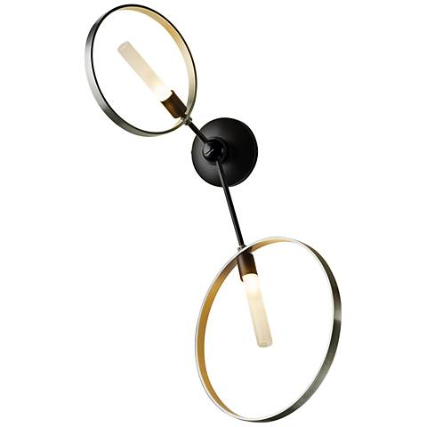 "Hubbardton Forge Celesse 29 3/4""H Black 2-Light Wall Sconce"