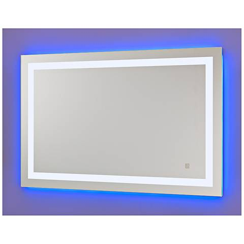Neoclassic Blue Cool White LED Vanity Mirror