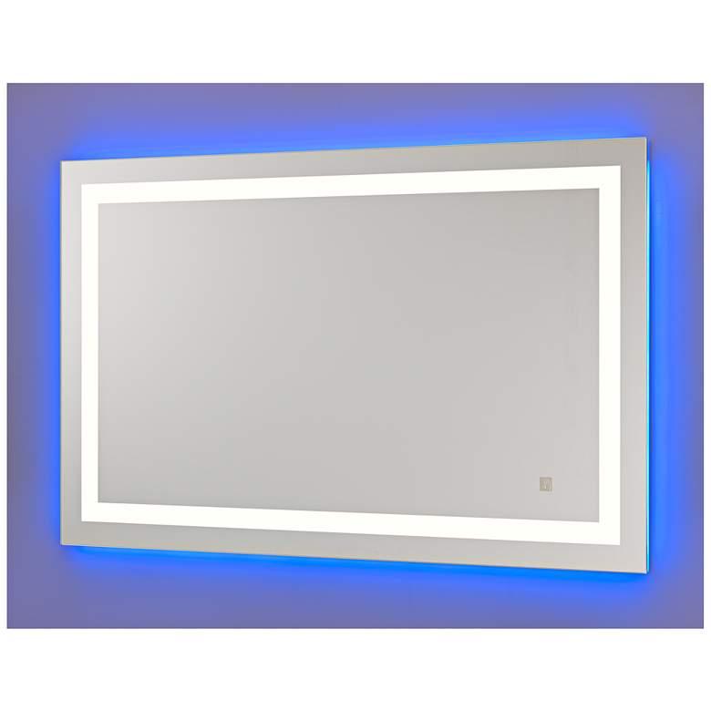 "Neoclassic Blue Warm White 27"" x 43"" LED Vanity Mirror"