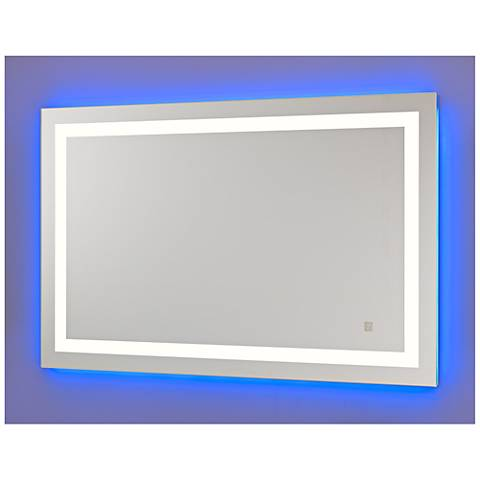 Neoclassic Blue Warm White LED Vanity Mirror
