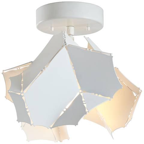 "Vermont Modern Cumulus 11"" Wide Satin White Ceiling Light"
