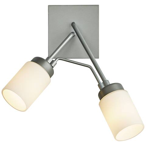 """Divergence 13""""H Burnished Steel 2-Light Outdoor Wall Light"""