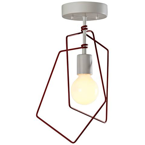 "Vermont Modern Filament 10 1/4""W Satin White Ceiling Light"