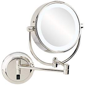 Wall Mounted Makeup Mirrors Magnifying Lighted More Lamps Plus
